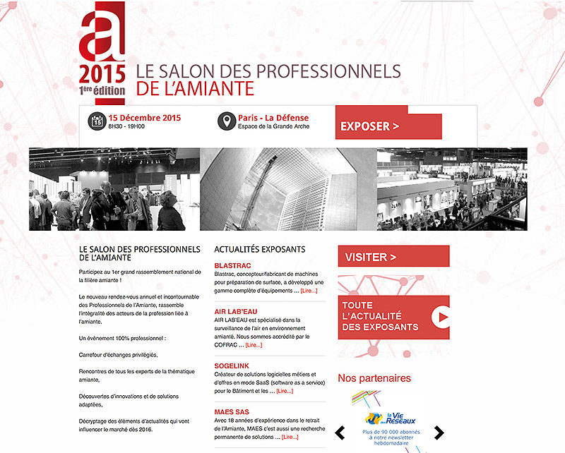 Salon des professionnels de l'amiante 2015